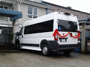New van for 4th and Alma home